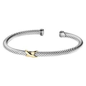 DAVID YURMAN • Gold X Crossover Bracelet Cuff